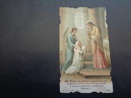 Devotieprentje ( 87 )  Communie  Communion :   Devroe  -  Zulte - Communion