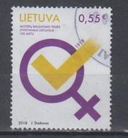 Lithuania 2018 Mi 1296 Used Womens Suffrage - Lituanie