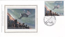 FDC Sur Soie/op Zijde -  B.D. - F. Schuiten - Navigation Spatiale - Timbre N°2786 -  FDC 1998 - Oblitération Charleroi - 1991-00