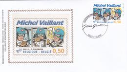 FDC Sur Soie/op Zijde -  B.D. - Michel Vaillant - Timbre N°3350 -  FDC 2005 - Oblitération  Avelgem - FDC