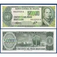 Billet Bolivie 50 000 Pesos - Bolivie