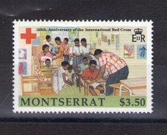 Montserrat. 125e Anniversaire De La Croix Rouge - Montserrat