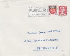 Enveloppe T.S.C. (1960 G1a Int. Gris) 0,25 Rouge (M. De Muller), Commandée Par R. Bloch à Metz, Obl. Metz Le 9/2/65 - Postal Stamped Stationery
