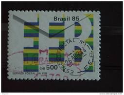Brazilië Brésil Brazil 1985 Service Postal De La Force Expéditionnaire Brésilienne Cachet Yv 1767 O - Gebruikt