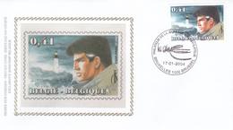 FDC Sur Soie/op Zijde -  B.D. - XIII (13)  - Timbre N°3233 -  FDC 2004 - Oblitération Bruxelles/Brussel - FDC