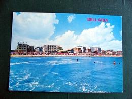 (FG.V18) RIMINI - BELLARIA - ALBERGHI E SPIAGGIA (viaggiata) - Rimini