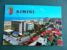 (FG.V18) RIMINI - PANORAMA CON ALBERGHI E SPIAGGIA (viaggiata) - Rimini