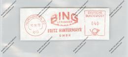 AUTO - BING VERGASER, Maschinenwerbestempel, Nürnberg 1972 - Ansichtskarten