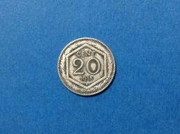 ITALIA REGNO VITTORIO EMANUELE III MONETA ITALY COINS 20 CENTESIMI ESAGONO 1918 CIRCOLATA - 1861-1946 : Kingdom