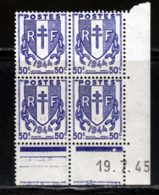 France 1945 Yvert 673 ** TB Coin Date - 1940-1949