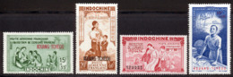 Kouang-Tcheou PA 1942 Yvert 1 / 4 ** TB PEIQI - Unused Stamps