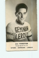Jean FORESTIER . 2 Scans. Cyclisme. Gitane Geminiani Leroux - Cycling