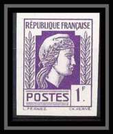 France N°637 Marianne Série D'Alger Non Dentelé ** MNH (Imperforate) - France