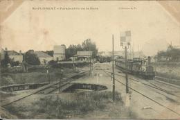 SAINT FLORENT , Perspective De La Gare , ( Avec Train ) , 1905 , µ - Saint-Florent-sur-Cher