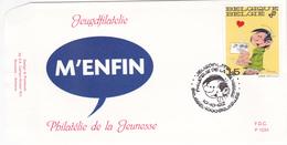 B.D. FDC Gaston Lagaffe - Timbre N°2484 -  1992 - Oblitération Bruxelles/Brussel - 1991-00
