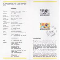B.D. Feuillet De La Poste N° 14 - TINTIN / KUIFJE (Hergé) - Timbre N°1944 -  NL - FDC  1979 - Oblitération Zwijnaarde - FDC