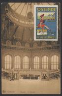 """Carte Postale - Ostende : Kursaal - La Rotonde (Nels) + Vignette """"Ostende - Reine Des Plages"""" / Voyagée. - Oostende"""