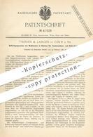 Original Patent - Theisen & Langen , Köln / Rhein , 1887   Wellblech - Rahmen Für Kühlapparat   Kühlung , Kondensation - Historische Dokumente