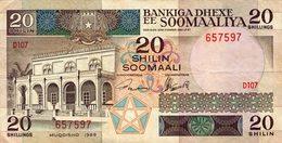Billet Somalie 20 Shilin - Somalie