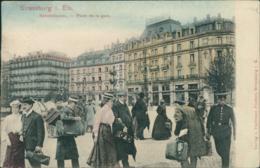 67 STRASBOURG / Place De La Gare / Carte Couleur - Strasbourg