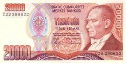 Billet Turquie 20 000 Lira - Turquia