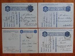 REGNO - 4 Cartoline Postali Per Le Forze Armate - Viaggiate + Spese Postali - 1900-44 Vittorio Emanuele III