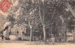 11 .n° 108196 .  Rennes Les Bains . La Place Et Le Cafe De La Terrasse  . - France