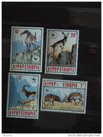 Ethiopie Ethiopia Athiopien  Geiten Chèvres WWF Yv 1281-1284 MNH ** - W.W.F.