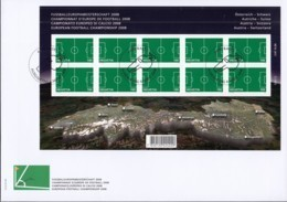 SCHWEIZ 2044, Folienblatt, FDC, Fußball EM 2008 - Blocks & Sheetlets & Panes