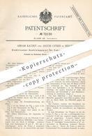 Original Patent - Abram Katzky , Jakob Gitkes , Berlin , 1893 , Elektrischer Kontrollapparat Für Fahrzeuge   Droschke - Historische Dokumente