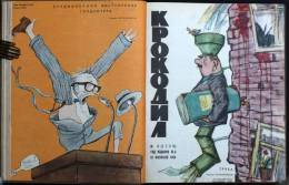 """Russian Satirical Magazine """"KROKODIL"""" 1964 Full Year Set Of 36 Pieces In Hard Cover - Livres, BD, Revues"""
