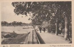 03 MONTLUCON -- La Plage Et La Jetée Promenade  TBE - Montlucon