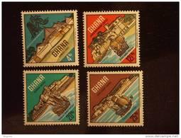 Ghana 1967 Galions Yv 274-277 MH * - Barcos