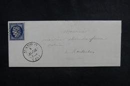 FRANCE - Type Cérès 25ct Sur Lettre De St Antonin Pour Montauban En 1851 - L 51190 - Marcophilie (Lettres)