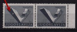 16. Yugoslavia 1974 50D Kragujevac Memorial, Pair With White Spot MNH - 1945-1992 Sozialistische Föderative Republik Jugoslawien