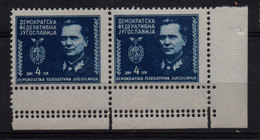 17. Yugoslavia 1945 Tito 4d Perf Variety MNH - 1945-1992 Socialistische Federale Republiek Joegoslavië