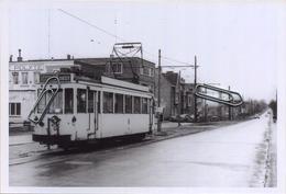 DIEST: TRAM : Leuvense Poort : Terminus  ** Foto Van Oude Cliché (15 X 10 Cm) Photo Vieux Cliché 1958 - Lieux
