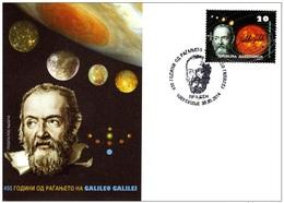 REPUBLIC OF MACEDONIA, 2014, FDC, MICHEL 690 - GALILEO GALILEI ** - Astronomy