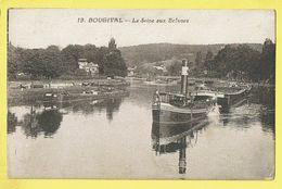* Bourgival (Dép 78 - Yvelines - France) * (F. David, Nr 19) La Seine Aux écluses, Bateau, Péniche, Boat, Canal, Quai - Bougival