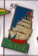 X58 Pin's Bateau Voilier DUQUESNE Compagnie Maritime Française  Achat Immédiat - Boats