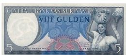 Billet Suriname 5 Gulden - Surinam