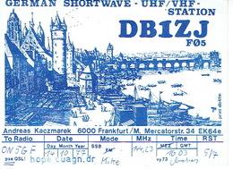 QSL - GERMANY - DB1ZJ - ANDREAS KACZMAREK - FRANKFURT - 1977 - Radio Amateur