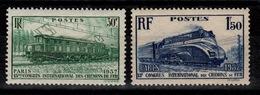 YV 339 & 340 N* Chemins De Fer Train Cote 9,50 Euros - Unused Stamps