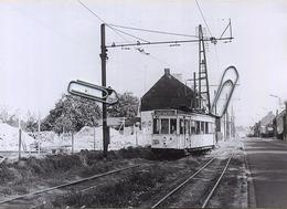 BURCHT : TRAM :  Molenstraat   ** Foto Van Oude Cliché (15 X 10 Cm) Photo Vieux Cliché 1959 - Places