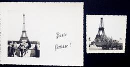 Photo , Ww2 , WwII ,  Paris , Carte Photo  , 1940  , 1942 , Wehrmacht ,  Tour Eiffel , Occupation , Allemand , Eiffel . - Orte