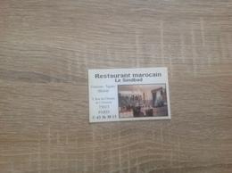 Ancienne Carte De Visite De Restaurant Marocain  Le Sinbad   Paris 13eme - Cartoncini Da Visita