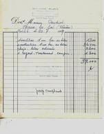 Facture 1959 / 70 PORT-SUR-SAONE / M. BIOT / Maçon-Cimentier - France