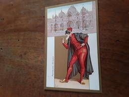 Cartolina Postale Illustrata 1900. Le Maschere Italiane, Illustratore Flavio Bertelli, Pantalone Venezia - Costumes