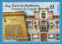 España. Spain. 2020. Efemérides. 824, Fuero De Brañosera. Primero De España - 2011-... Nuevos & Fijasellos