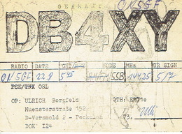QSL - GERMANY - DB4WY - ULRICH BERGFELD   -  VERSMOLD - 1974 - Radio Amateur